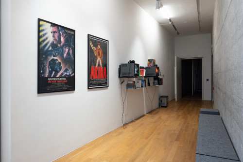 Exhibition view: Cultural Influence Reading Corner at Phantom Plane, Cyberpunk In The Year Of the Future.