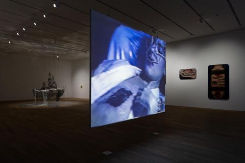 Exhibition view: Jon Rafman, Tishan Hsu and Lee Bul, at Phantom Plane, Cyberpunk In The Year Of the Future.