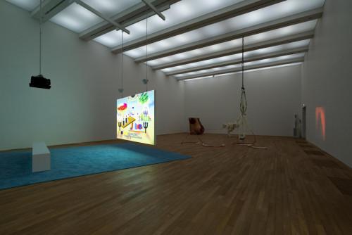 展覽場景:黃炳及Raphaela Vogel,於「表演社會:性別的暴力言語不通」。