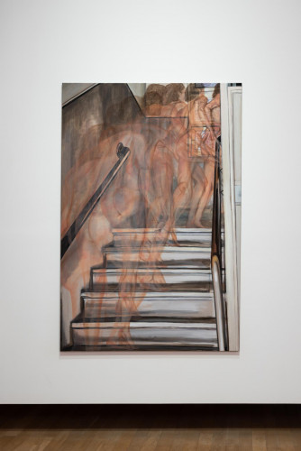 "Jana Euler, ""Nude Climbing Up the Stairs"" (2014)."