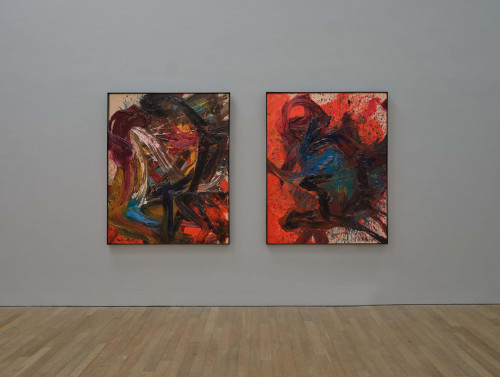 """Exhibition view: Kazuo Shiraga, """"They Do Not Understand Each Other""""."""